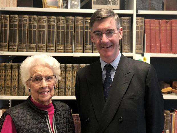 Conservative MP Jacob Rees-Mogg with Baroness Paisley