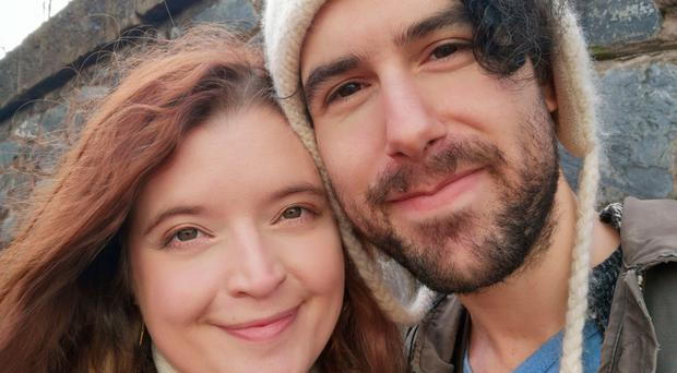 Emma DeSouza with her husband Jake, who's from the United States