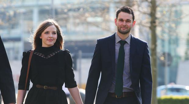 """Daniel and Amy McArthur, the couple at the centre of the """"gay cake"""" row (Brian Lawless/PA)"""