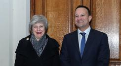 Theresa May and Leo Varadkar (Maxwell Photography/PA)