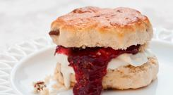 One scone was found to contain around a third of a person's recommended daily calories