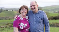 Heart transplant recipients June Craig from Donemana and Stephen Kee from Omagh support the organ donor campaign