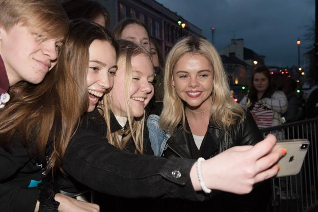 Actor Saoirse Monica Jackson arrives at the Omniplex Cinema in Londonderry