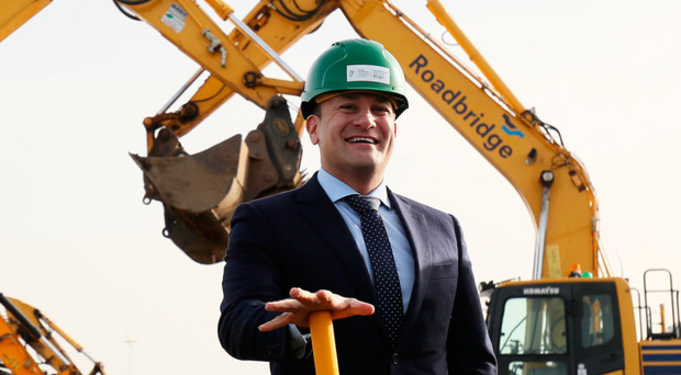 Taoiseach Leo Varadkar at the official sod-turning ceremony for the new runway at Dublin Airport last week