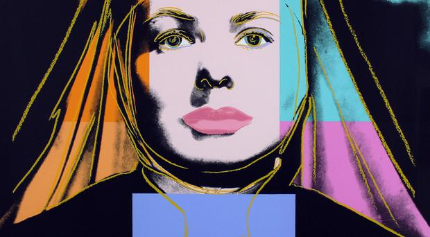 Warhol's signed screenprint Ingrid Bergman The Nun