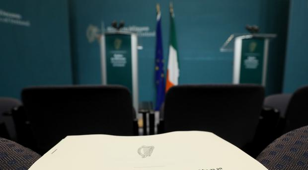 Details of the European Union (Consequential Provisions) Bill 2019 were revealed at Government Buildings in Dublin (Brian Lawless/PA)