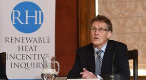 The chairman of the Renewable Heat Incentive (RHI) inquiry Sir Patrick Coghlin (Colm Lenaghan/PA)