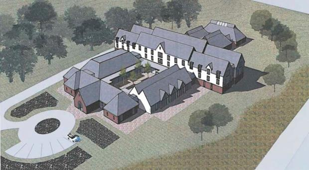 An artist's impression of the new hotel on the Inch Abbey site