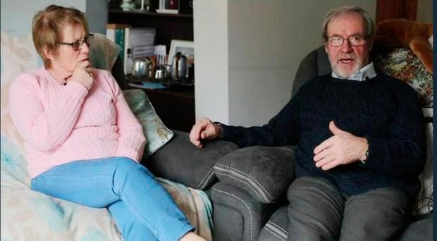Walter and Margaret Pringle who live close to the Monaghan-Fermanagh border