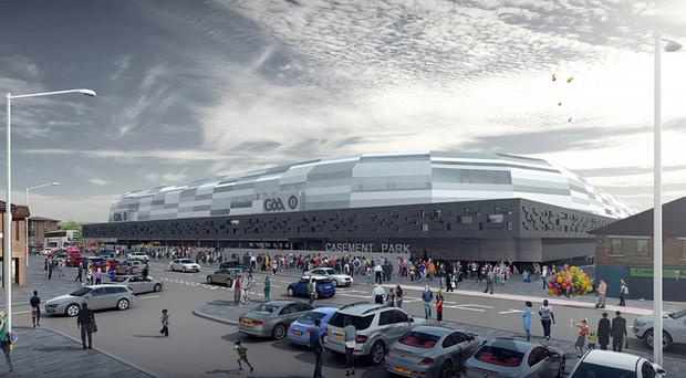 The proposed new Casement Park stadium unveiled by Ulster GAA