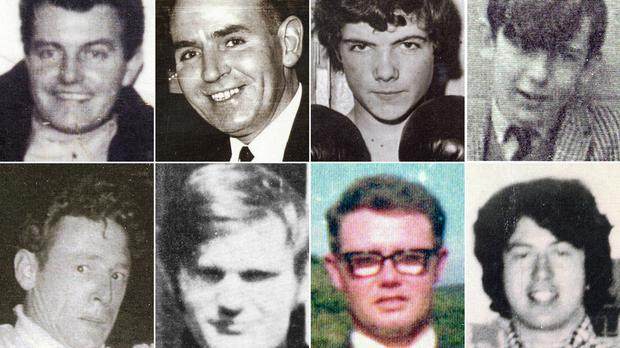 Eight of those killed during Bloody Sunday – (top row) Patrick Doherty, Bernard McGuigan, John Duddy and Gerald Donaghey, (bottom row) Gerard McKinney, Jim Wray, William McKinney and John Young (Bloody Sunday Trust/PA)