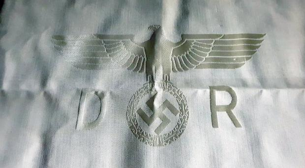 Historically rare Third Reich Deutsche Reichsbahn tablecloth