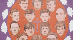 A mural paying tribute to the Bloody Sunday victims