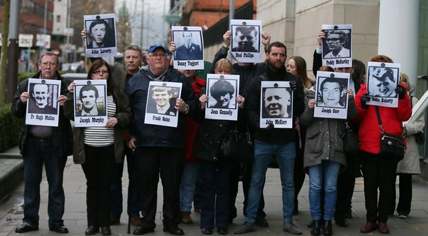 An inquest is being held into the deaths of 10 men in Ballymurphy in August 1971 (Niall Carson/PA)