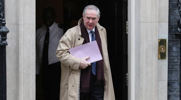 Attorney General Geoffrey Cox leaves Downing Street (Steve Parsons/PA)