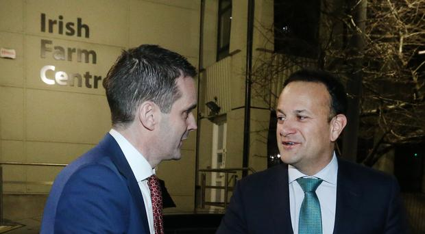 Taoiseach Leo Varadkar and IFA president Joe Healy have warned about the impact of a no-deal Brexit (Finbarr O'Rourke/PA)