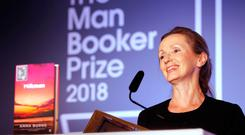 Anna Burns on stage at the Guildhall in London after she was awarded the Man Booker Prize for fiction for her novel Milkman last October