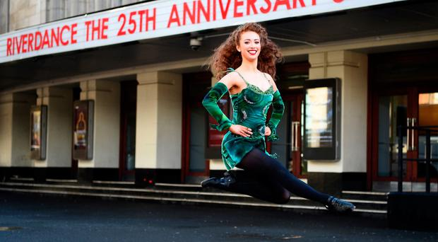 Lead dancer Amy-Mae Dolan, from Co Tyrone, at an event to mark the launch of Riverdance's updated show