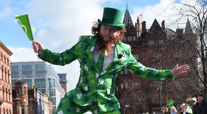 Thousands line the streets of Belfast on Sunday to celebrate St Patrick's Day. The parade set off from City Hall to Writers Square, with a concert at Custom House Square