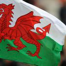 A Wales flag flies in the stands (Andrew Matthews/PA)