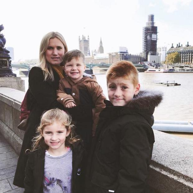 Ruth Maguire with son Tyler (10), daughter Lydia (7) and son Oliver (5)