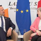 Theresa May and Leo Varadkar held a bilateral meeting (Stefan Rousseau/PA)