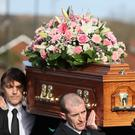 The coffin of Carlingford drowning victim Ruth Maguire (Brian Lawless/PA)