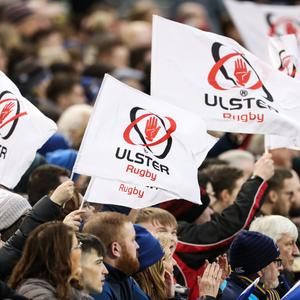 Ulster fans at the match against Leinster in Dublin