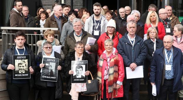 Relatives of those who died on Bloody Sunday (Niall Carson/PA)