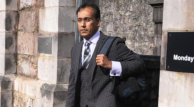 Dr Asaduzzaman leaves the inquest yesterday