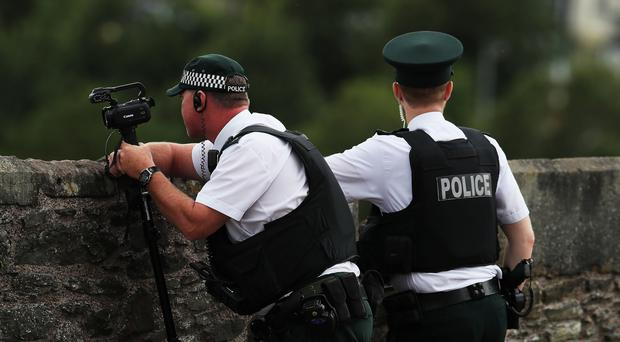 Police in Londonderry had been invited to the conference (PA)