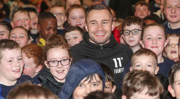 Carl Frampton at the Valley Leisure Centre