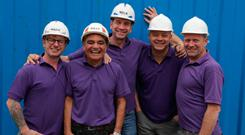 Mark with presenter Nick Knowles (centre) and the BBC DIY SOS team