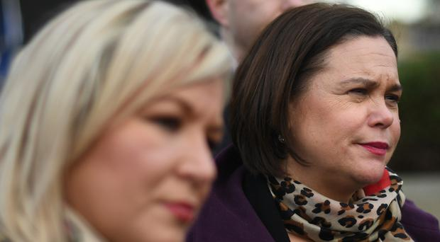 Sinn Fein leaders Michelle O'Neill (left) and Mary Lou McDonald will speak to Jeremy Corbyn on Monday (Stefan Rousseau/PA)