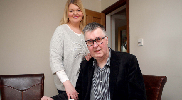 The Rev Adrian Adger, who despite his illness preaches in his parish each Sunday, and wife Karen