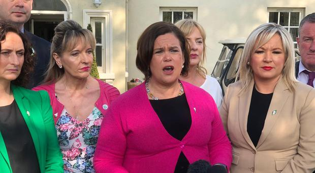 Sinn Fein leaders Mary Lou McDonald and Michelle O'Neill (Sinn Fein/PA)