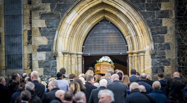 The funeral of William Duffy, who died aged 105, takes place at St James' Church in Tandragee