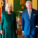 The Prince of Wales and the Duchess of Cornwall at Hillsborough Castle