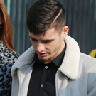 Former Cliftonville player Jay Donnelly outside court