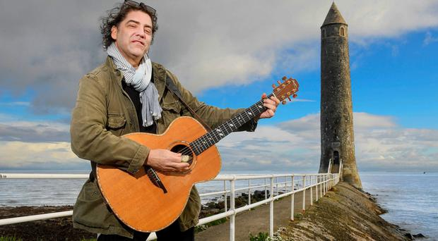 Brian Kennedy launches the Friends' Goodwill Festival at the Chaine Memorial in Larne