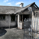Scene of arson attack on in Derry on Tuesday night