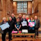 William McCandless (far right) has organised a service for dementia sufferers to be attended by church members and families on Maundy Thursday