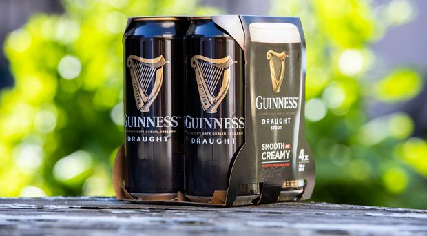 Diageo has announced the removal of plastic ring carriers and shrink wrap from multipacks of its beer products (Naoise Culhane/PA)