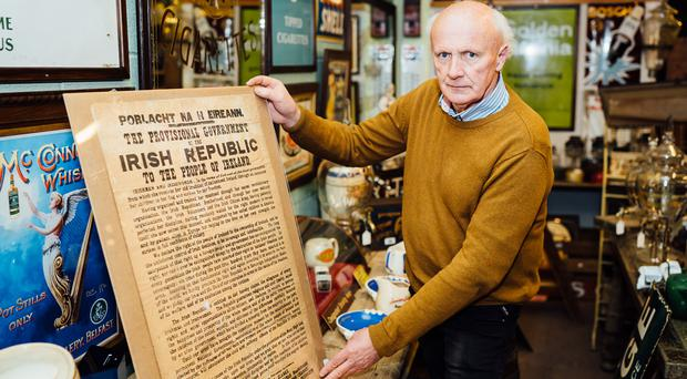 Co Cavan Auctioneer Victor Mee will be selling a rare first anniversary Proclamation next month (Gemma Gilfillan/Victor Mee Auctions/PA)