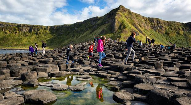 Over 1,5m visitors went to the Giants Causeway and Carrick a Rede in County Antrim last year. (National Trust NI/PA)