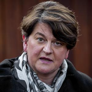 DUP leader Arlene Foster has urged all unionists to vote to prevent Sinn Fein becoming the biggest party. (Liam McBurney/PA)