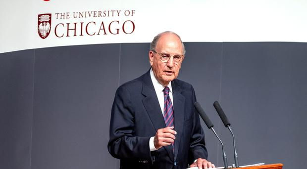 US senator George Mitchell, who brokered the 1998 Belfast Agreement (PA)
