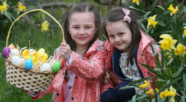 Sisters Roma (8) and Rocha O'Brien (4) are looking forward to Easter celebrations in Coleraine, including an outdoor egg hunt with a difference, walking tours and other free family fun events