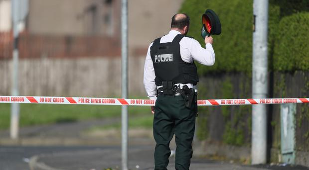 Police at the scene on Fanad Drive (Brian Lawless/PA)