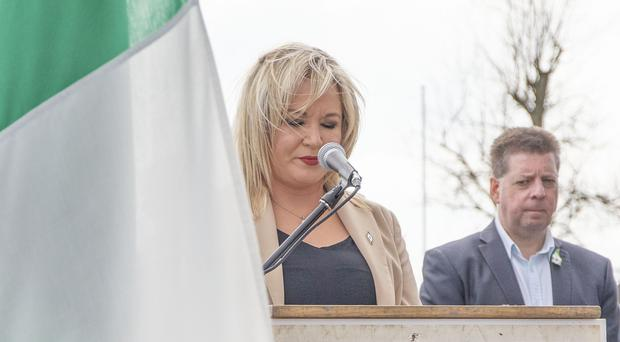 The killers of murdered journalist Lyra McKee should disband, Sinn Fein leader Michelle O'Neill urged (Joe Boland/PA)